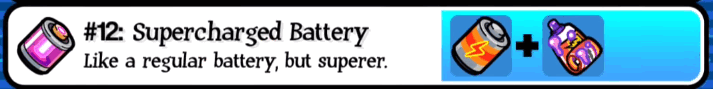 Pocket Morty Recipe: Supercharged Battery